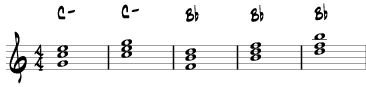 B Major Triad and B-flat major triads